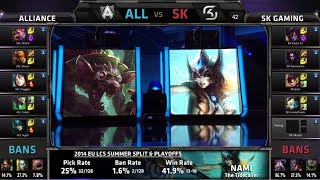 Alliance vs SK Gaming | Game 1 Semi Finals EU LCS Summer 2014 Playoffs ALL vs SK S4 Worlds Regionals