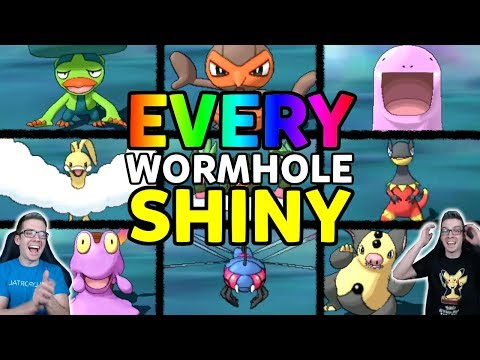 Finding EVERY Ultra Wormhole Shiny Pokemon! Pokemon Ultra Sun and Ultra Moon Shiny Reaction Montage