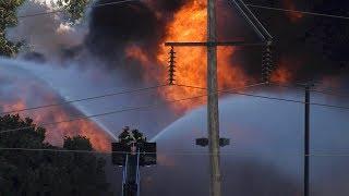 Fire of Evraz Scrap Metal Recycling in Denver