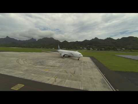 ANZ arrival on Rarotonga in the Cook Islands