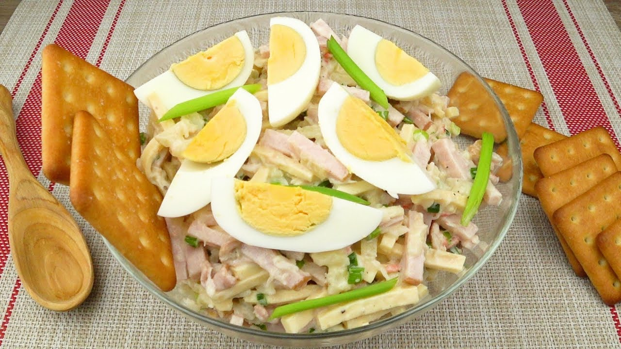 Салат из кальмары крабовое мясо
