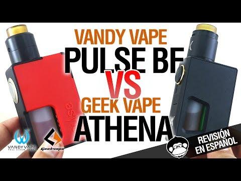 Vandy Vape PULSE BF VS Geek Vape ATHENA SQUONKER - revisión y comparativa