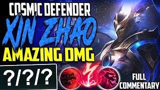 TOP LANE COSMIC DEFENDER XIN ZHAO   THIS DAMAGE IS AMAZING   Xin'Zhao vs Nasus TOP   S8 PBE Gameplay