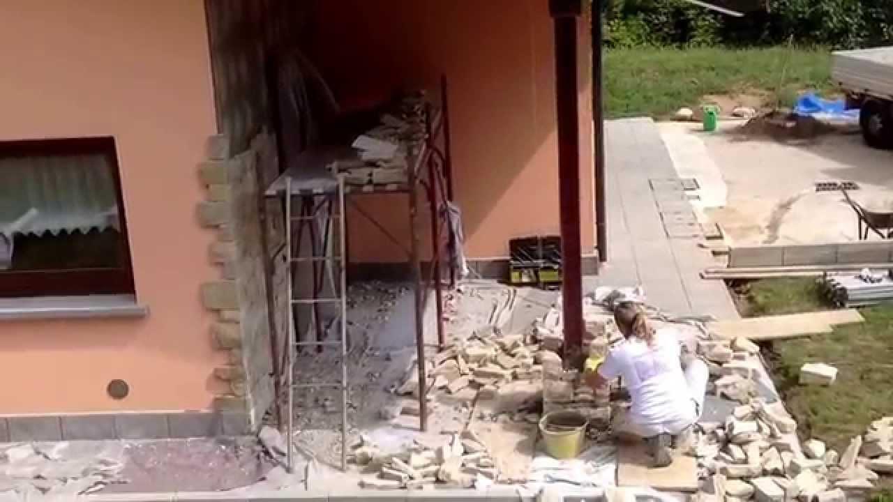 Posa pietre naturali per rivestimenti esterni ,ArtigianiPietraCredaro ...