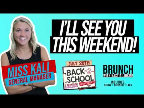 See You this Weekend!  Back 2 School and Nastia Event!