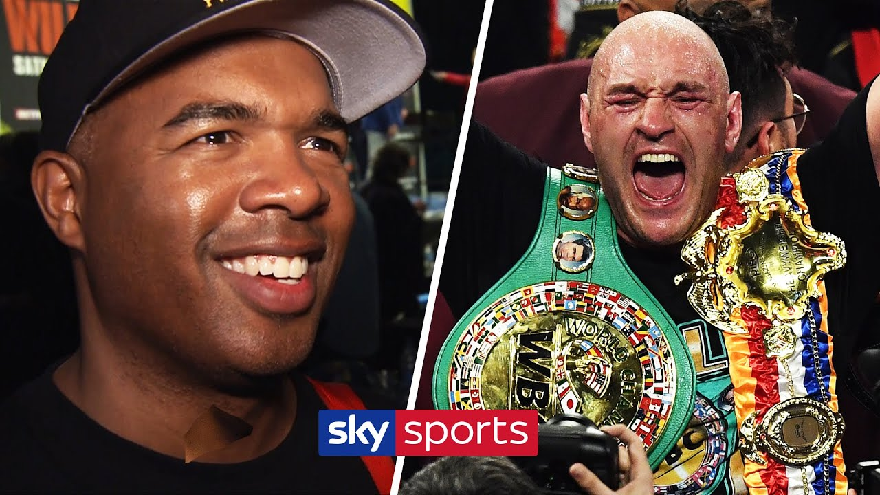 Tyson Fury's trainer Sugarhill Steward reacts to stoppage win over Deontay Wilder