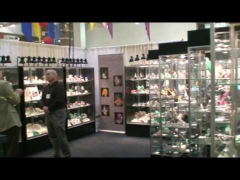 Collector's Edge Minerals at the Tucson Main Show 2009 FULL BOOTH FOOTAGE