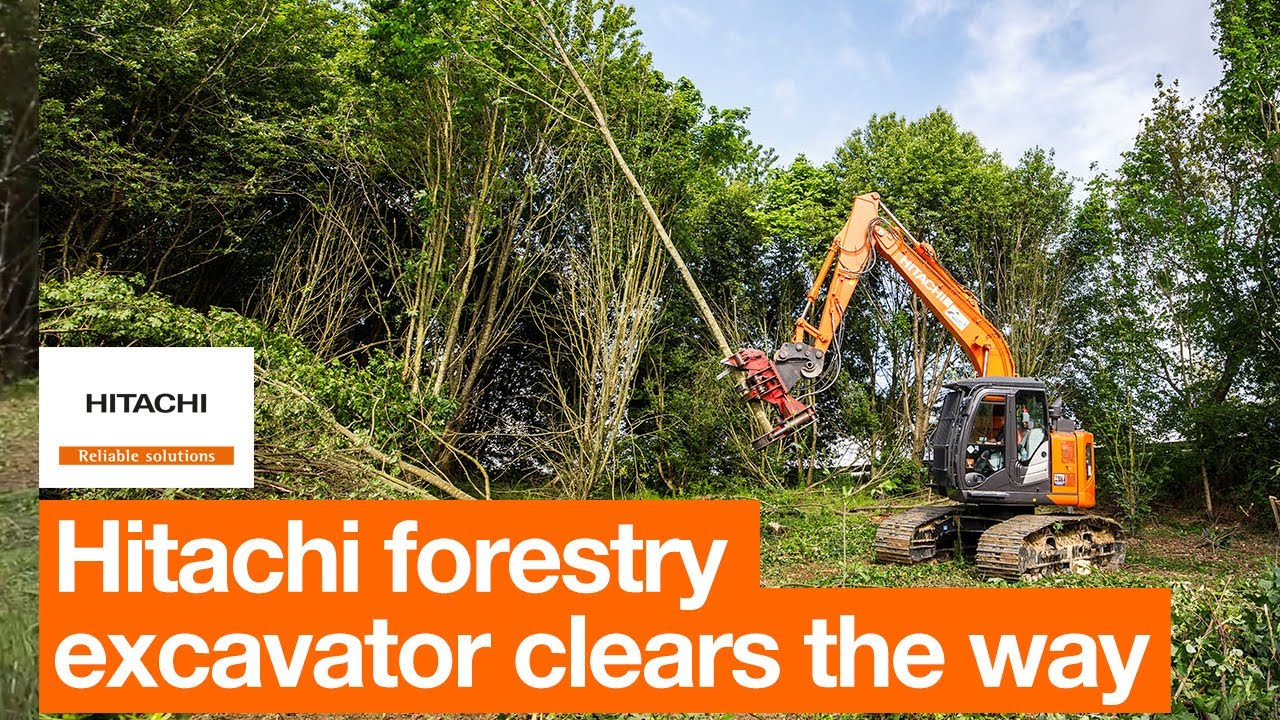 Hitachi forestry excavator clears the way for French motorway project
