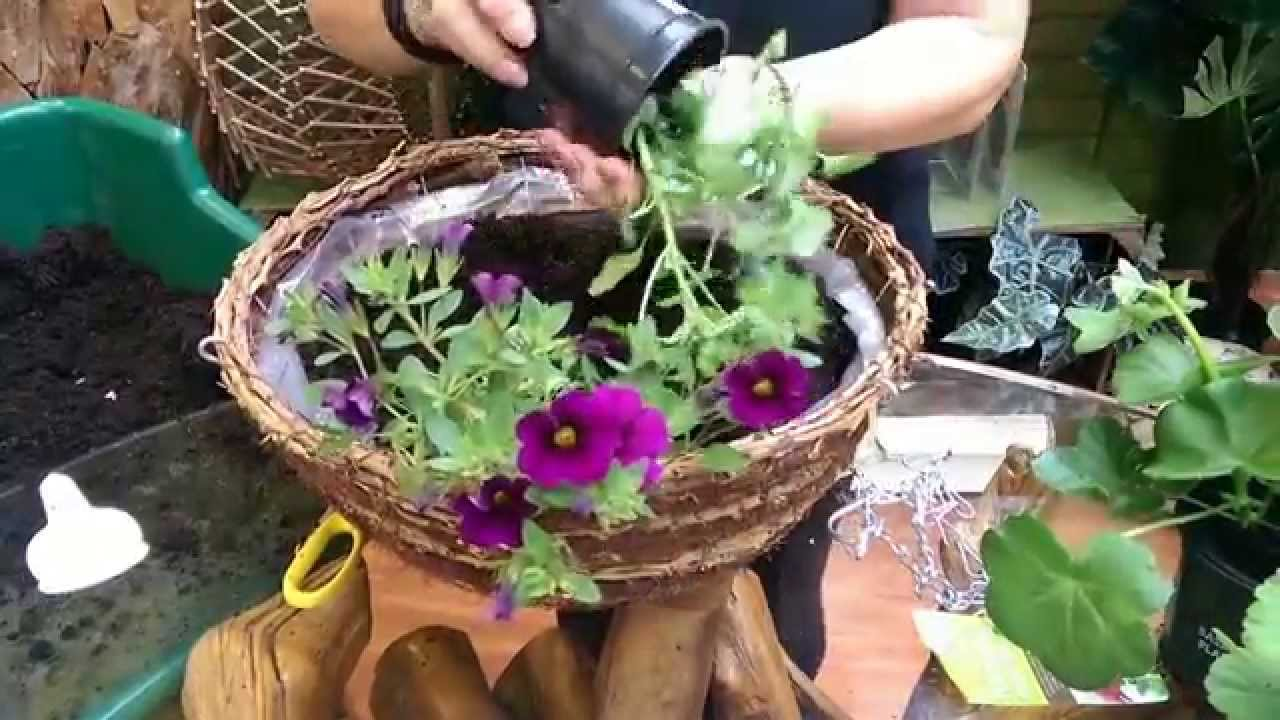 How to make hanging baskets - How To Make A Summer Hanging Basket With Jeannine At Bents Garden Home