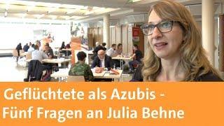 Geflüchtete als Azubis: Fünf Fragen an Julia Behne