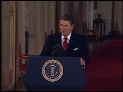 President Reagan's 42nd Press Conference in East Room on October 22, 1987
