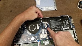 Upgrading/Replacing the hard drive in a Laptop with a solid state drive HP Pavilion 15
