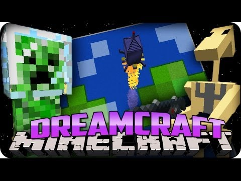 Minecraft Mods DREAM CRAFT Ep  1 WE39VE CRASH LANDED