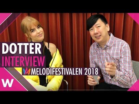 "Dotter ""Cry""   Melodifestivalen SF3 Malmö (Interview)"