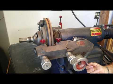 Using the Ammco Brake Lathe