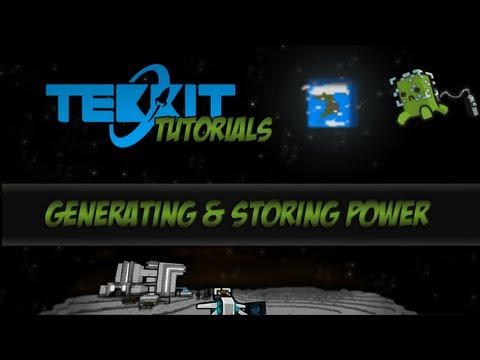 Tekkit Tutorials - How to get Power - Generating and Storing Power