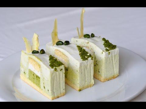 Pistachio & Coconut Milk Mousse Cake 开心果椰浆 慕斯蛋糕--Freesiaa Made 第24集