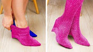 신발과 양말 DIY 디자인과 팁 || 30가지 영리한 …