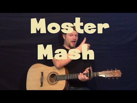 Monster Mash Bobby Pickett Easy Guitar Lesson How To Play Strum