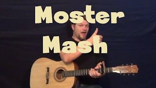 Monster Mash (Bobby Pickett) Easy Guitar Lesson How to Play Strum Chords Tutorial