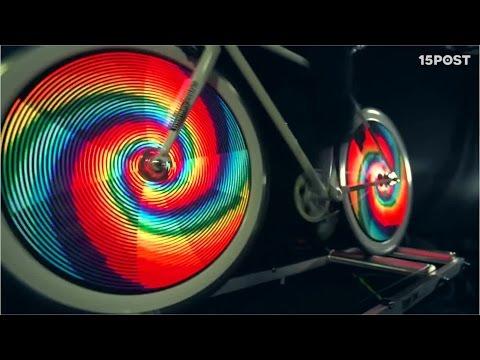 Estas luces convierten las ruedas de tu bicicleta en una pantalla LED - 15 POST