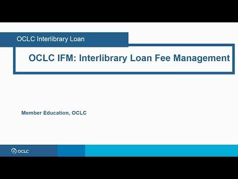 OCLC IFM- Interlibrary Loan Fee Management