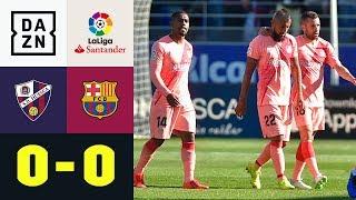 Barca mit Nullnummer beim Schlusslicht: SD Huesca - FC Barcelona 0:0 | La Liga | Highlights | DAZN