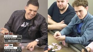 Doug Polk Makes a $6000 Overbet on a Scary River vs Justin  ♠ Live at the Bike!