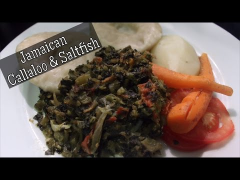 How To Make Jamaican Callaloo And Saltfish | Hello Sweet Biscuit