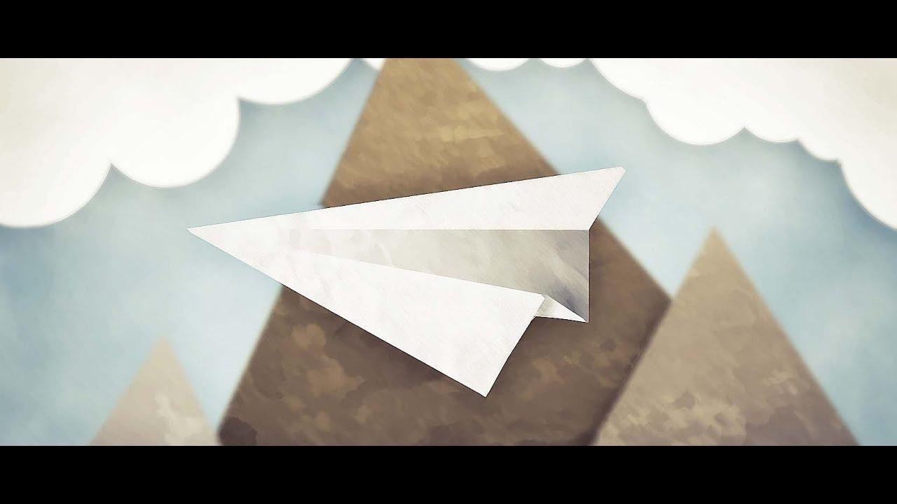 tuto comment faire un avion en papier youtube. Black Bedroom Furniture Sets. Home Design Ideas