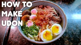 HOW TO MAKE UDON NOODLE SOUP - Life After College Videos