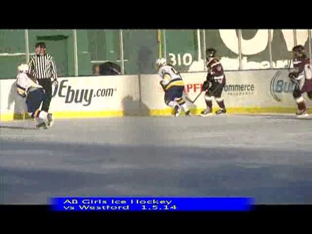 Acton Boxborough Varsity Girls Hockey vs Westford 1/5/14