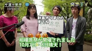 今週の青学10月11日 出雲駅伝・相模原齋.