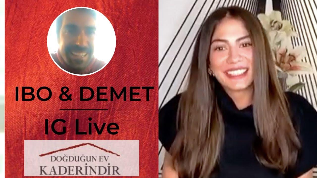 Ibo and Demet Live on IGTV- English