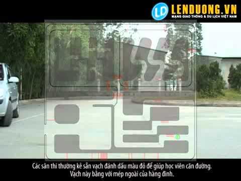 Học lái xe Cách sử lý vệt bánh xe trên đường vuông góc (bài 4)