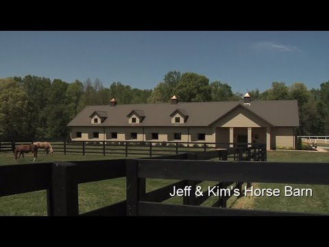 Morton Buildings Tour - Jeff & Kim's Horse Barn