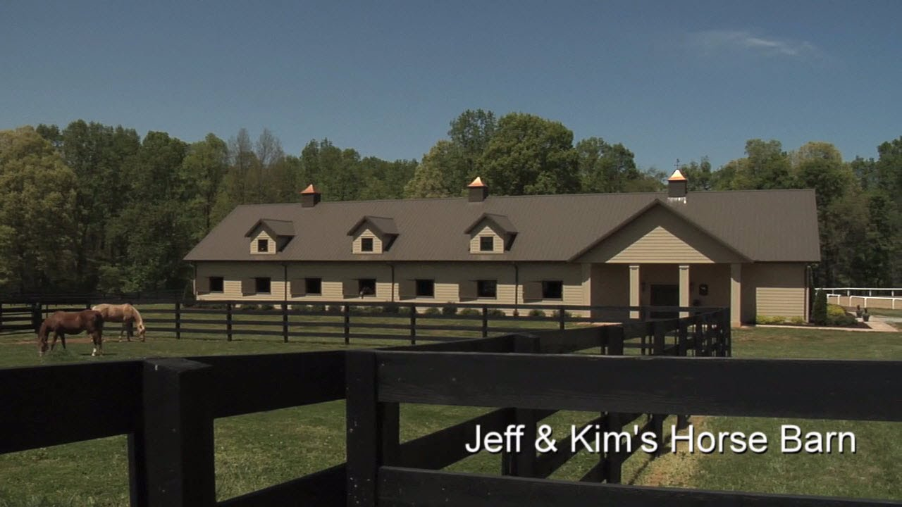 Morton Buildings Tour Jeff Amp Kim S Horse Barn Youtube