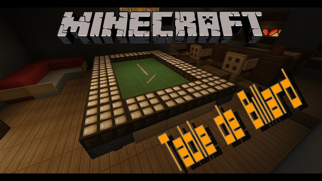 Comment Faire Une Table De Billard Minecraft Flashdeco Ep