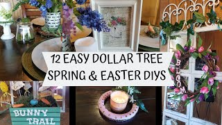 12 EASY DOLLAR TREE SPRING/EASTER DECOR DIY'S | POTTERY BARN INSPIRED | FARMHOUSE