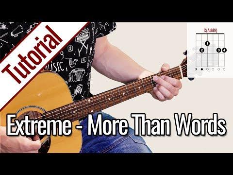 Extreme - More Than Words | Gitarren Tutorial Deutsch