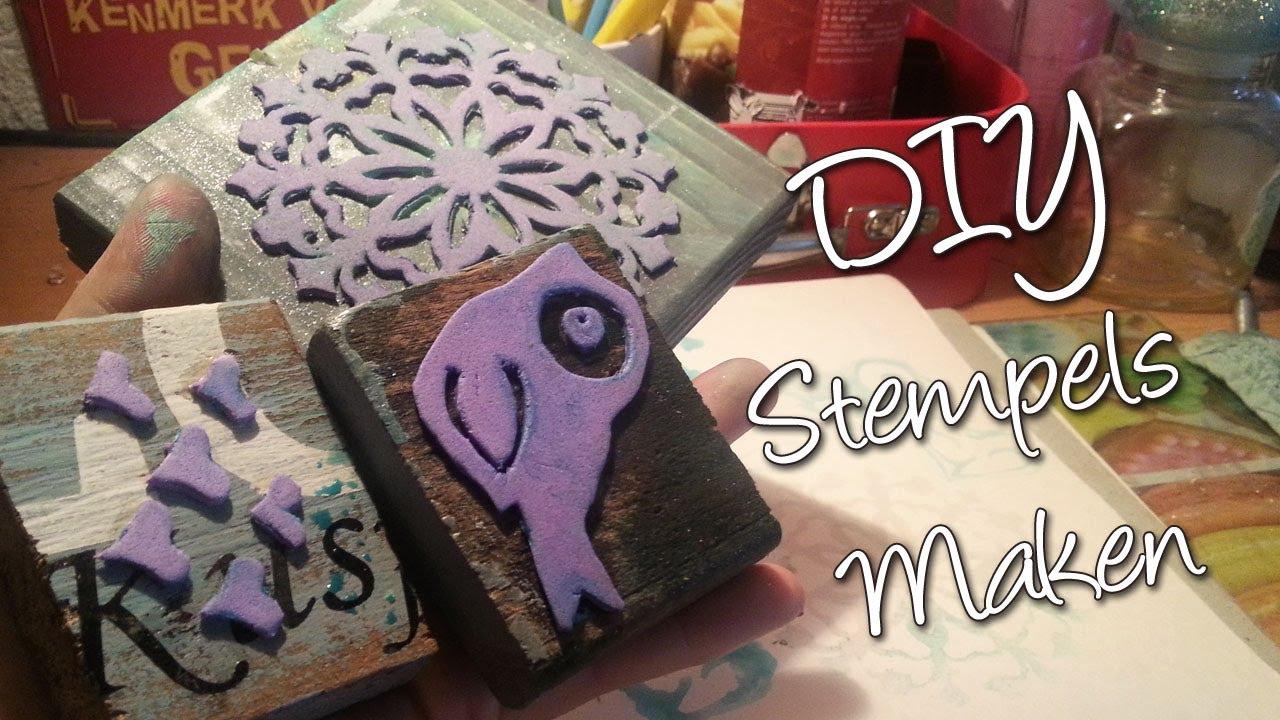 Hedendaags Diy Hoe maak je zelf een stempel? Homemade Stamps. - YouTube UH-67