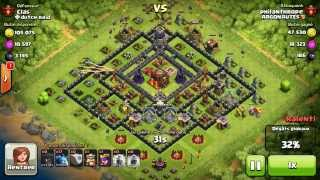 BM061 Balloons and Minions Strategy against champion level opponent - Clash of Clans CoC