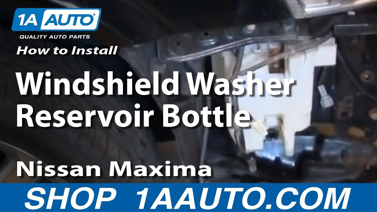maxresdefault how to install replace windshield washer reservoir bottle 2000 03 Nissan Altima Speed Sensor at gsmx.co