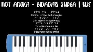 Download Mp3 Not Pianika Bidadari Surga - Uje   @syakir Daulay  Mudah