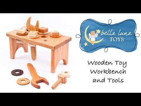 Toy Review: Wood Toy Workbench and Tools