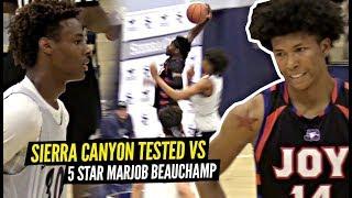 Sierra Canyon TESTED By 5 Star Marjon Beauchamp!! Brandon Boston & Marjon GO AT IT In BATTLE!!!