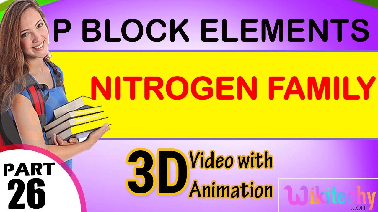 Nitrogen family p block elements class 12 chemistry subject notes nitrogen family p block elements class 12 chemistry subject notes lectures cbse iitjee neet gamestrikefo Images
