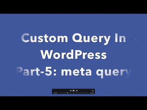 WordPress query by meta value