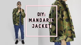 DIY: Mandarin Collar Jacket!