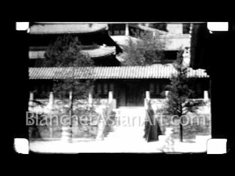 1920's film of China: Late Empress Dowager Cixi's Palace